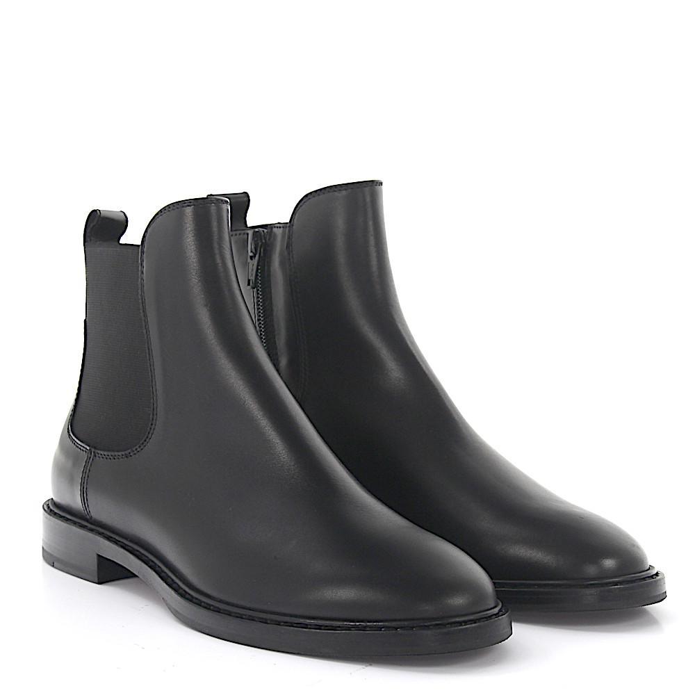 Boots calfskin black Attilio Giusti Leombruni m5ZSrqpwKW