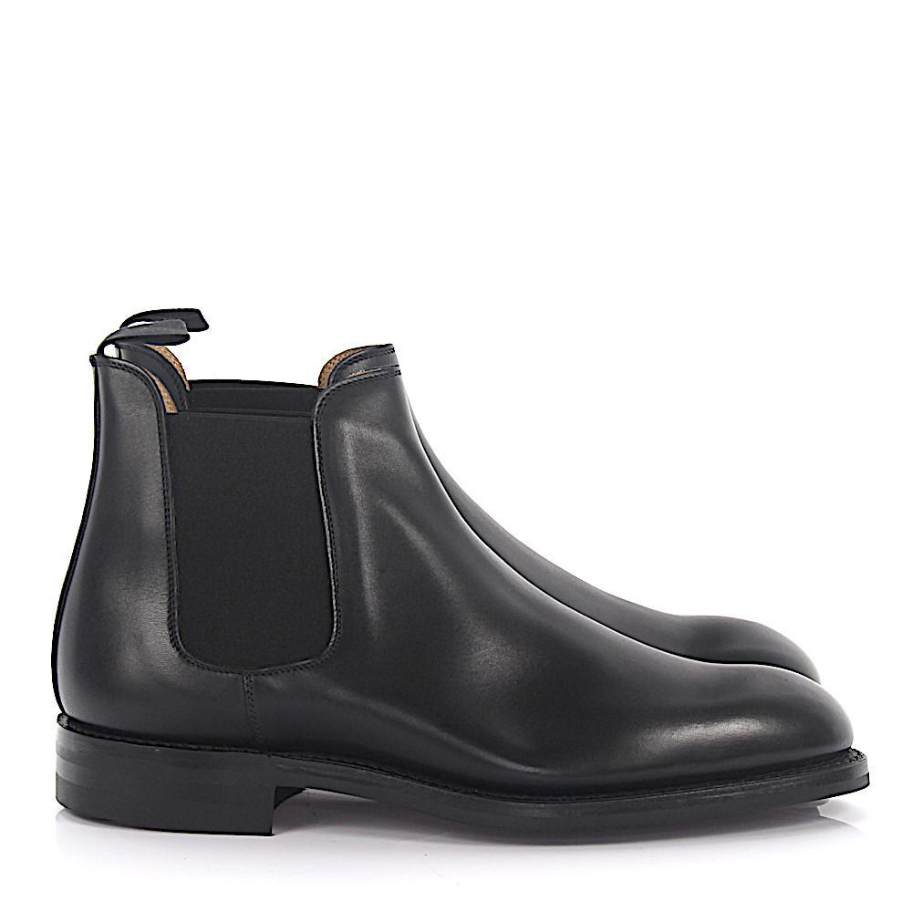 lyst crockett and jones chelsea boots chelsea 5 leder schwarz in black for men. Black Bedroom Furniture Sets. Home Design Ideas