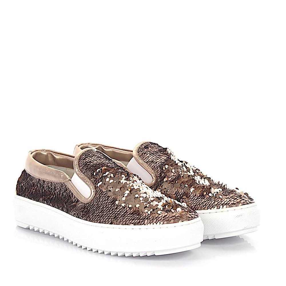 AGL ATTILIO GIUSTI LEOMBRUNI Sneakers D925095 Plateau leather shiny wDuJw8B