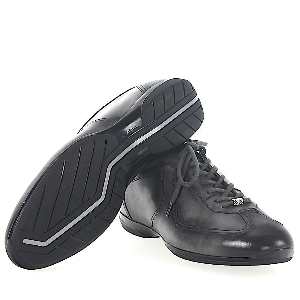 Leder Gray 20422 Finished In Lyst Santoni Men For Grau Sneaker orEBeQdWxC