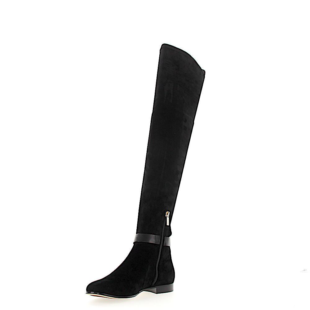 53b947cb5c8 Jimmy Choo - Boots Myren Flat Suede Metal Decorations Black - Lyst. View  fullscreen