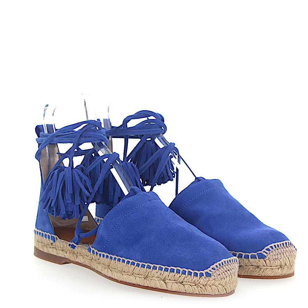 Dsquared2 Espadrilles Sandals FLAT suede red roman lacing Free Shipping Official Site Free Shipping Cost vy8A2EtHv