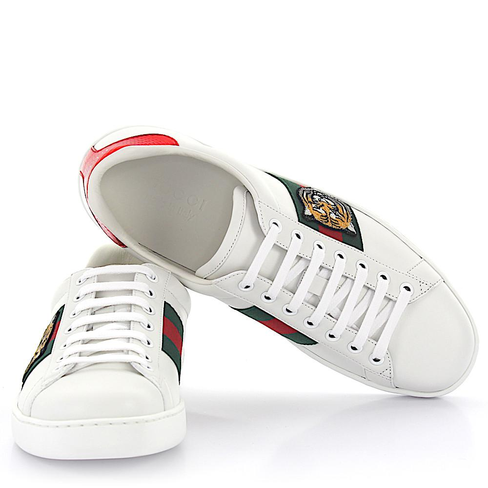 c3f90c753a9 Lyst - Gucci Ace Sneakers A38g0 Leather White Tiger Embroidery ...