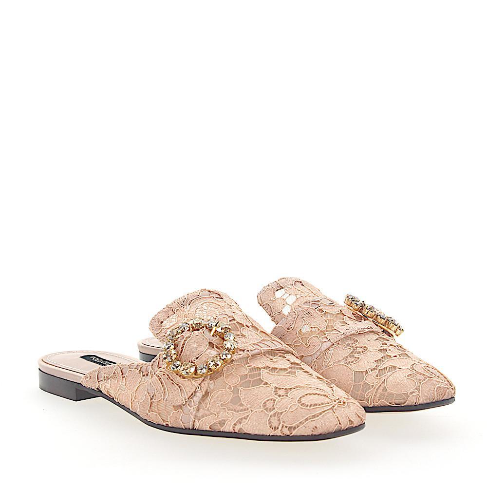 Dolce & Gabbana Slipper AL198 Taormina-Lace buckle ornament Bbi7q4