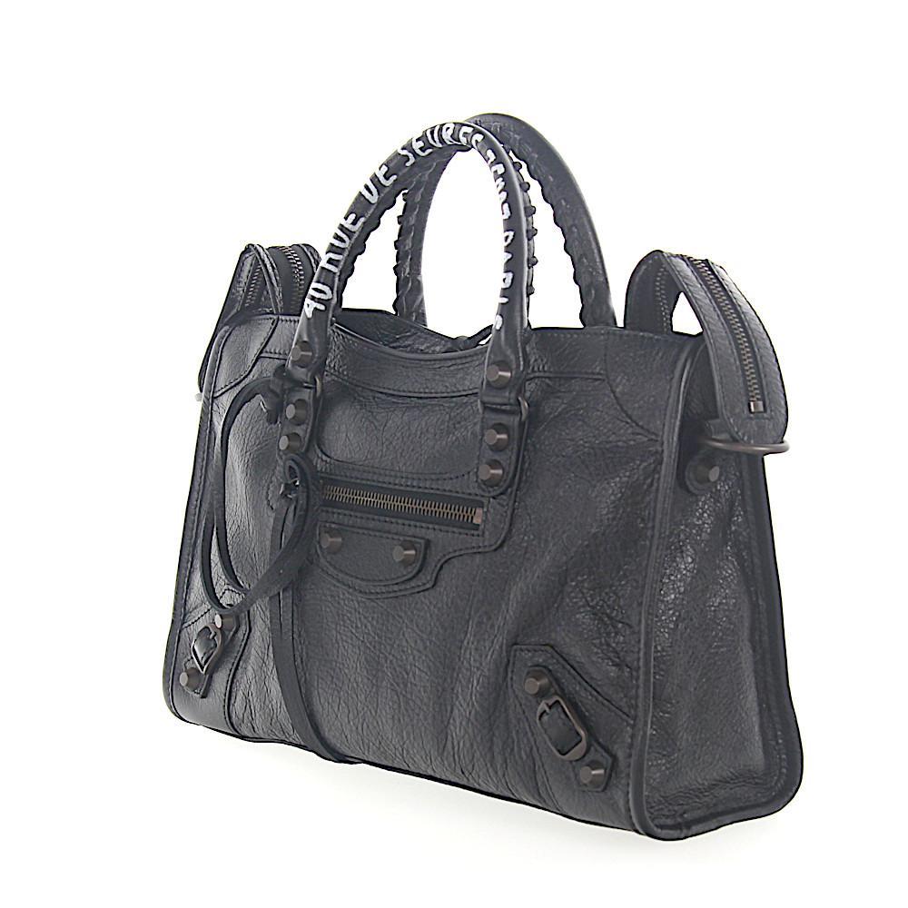 Schultertasche Handtasche VILLE TOP HANDLE S Leder schwarz Balenciaga gD3GOPW7d