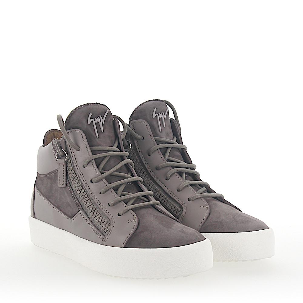 Giuseppe Zanotti Sneakers MAY Mid Top leather suede pmnWs