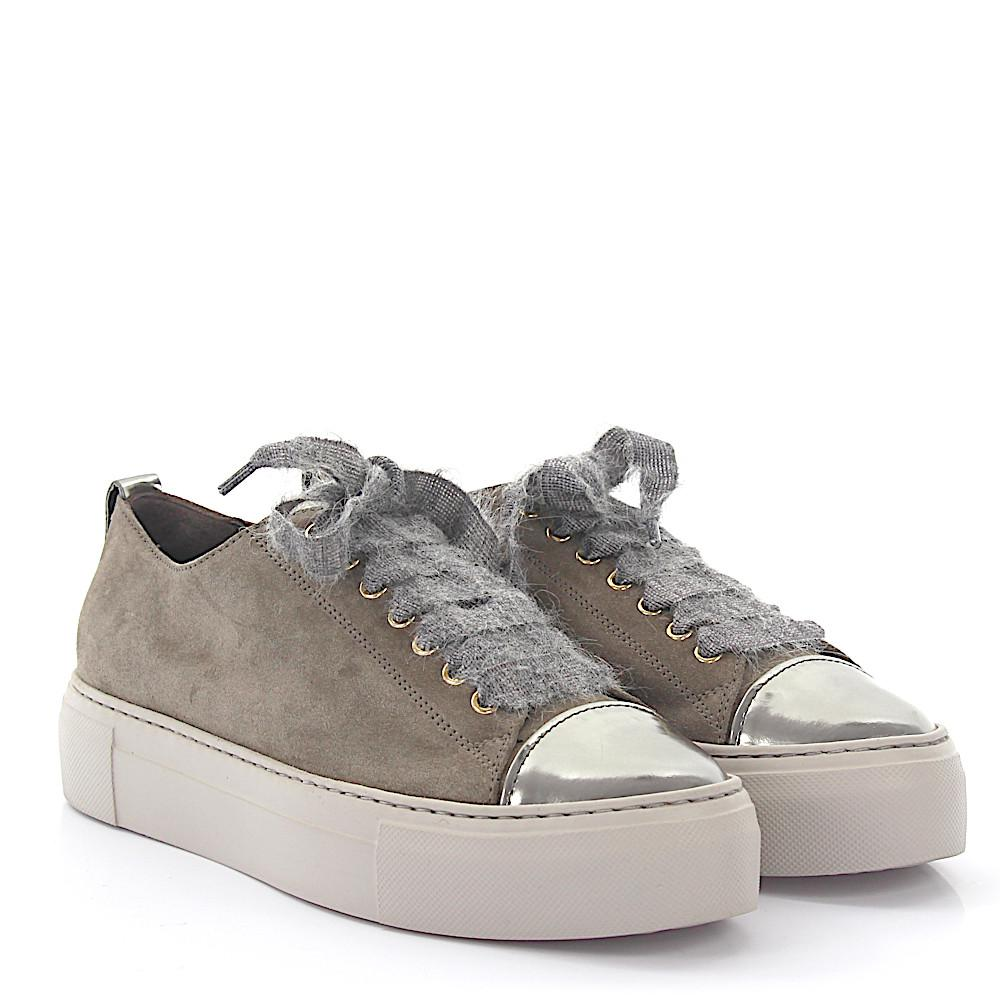 Sneakers D925090 Plateau suede grey Patch flowers Attilio Giusti Leombruni For Nice For Sale Cheap Sale Real Outlet Best Wholesale Free Shipping Supply Discount Extremely 1r1RAL