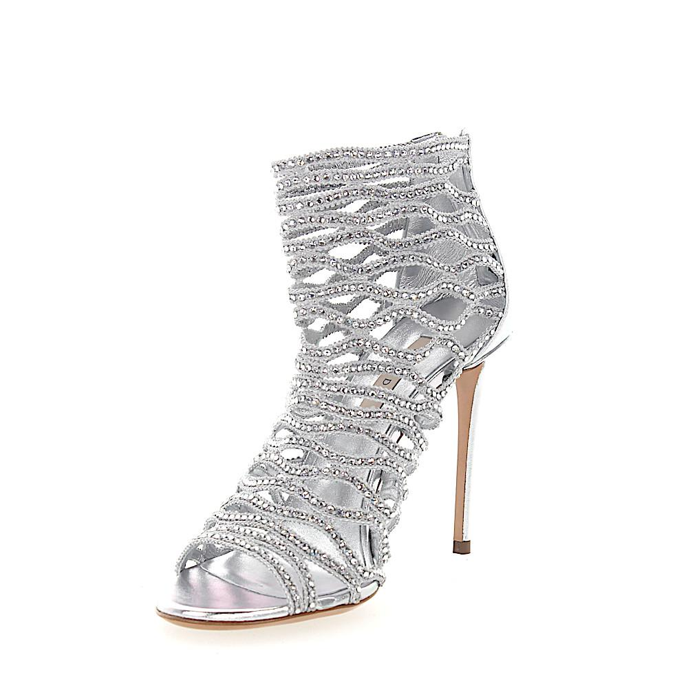 Buy Online Cheap Brand New Unisex Sandals 1L640 nappa leather stretch Strass silver Casadei Buy Cheap Perfect Cheap Discount Authentic Geniue Stockist Cheap Price IS883BGUU