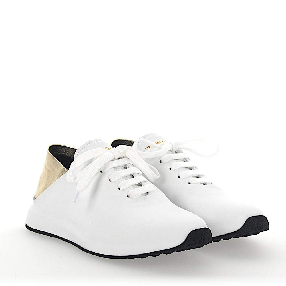 Officine creative Sneakers RACE leather gold crinkled rKzSnx