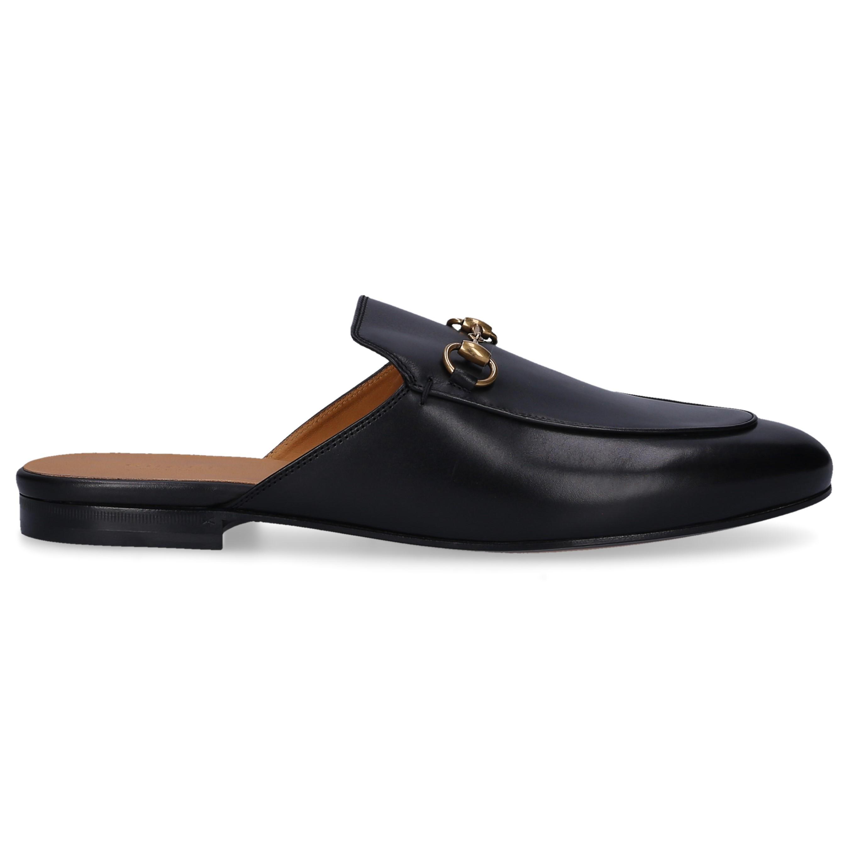 8aed33340cb Lyst - Gucci Slip On Shoes Princetown Calfskin Horsebit-detail Black ...