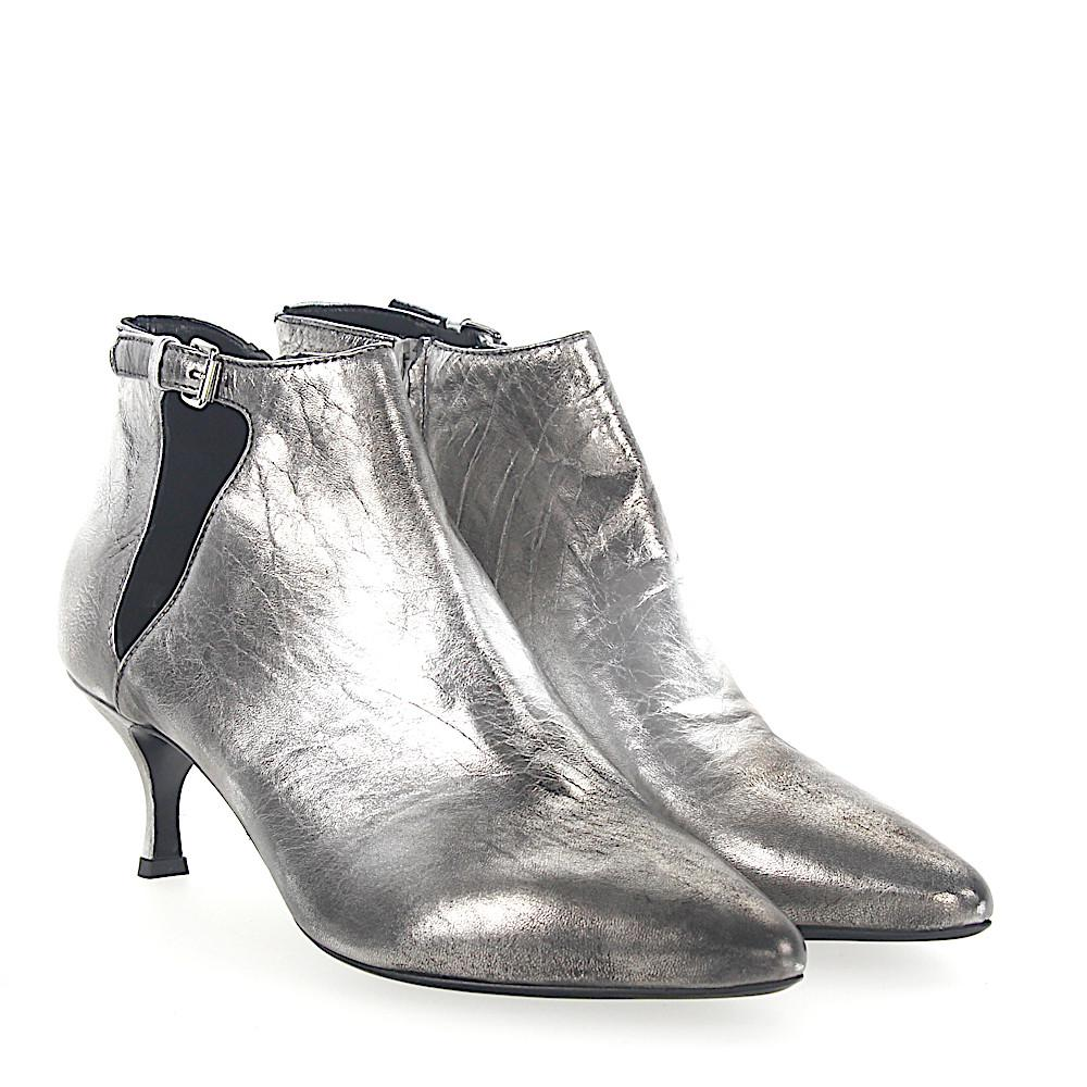 Strategia Boots CARLA leather grey finished tYp3V