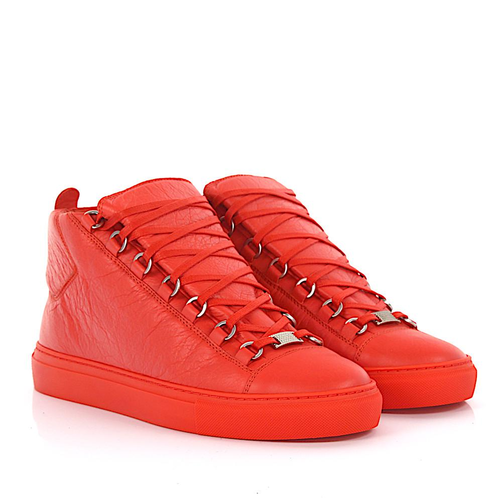 Sneakers high Arena leather orange Balenciaga mMSTb