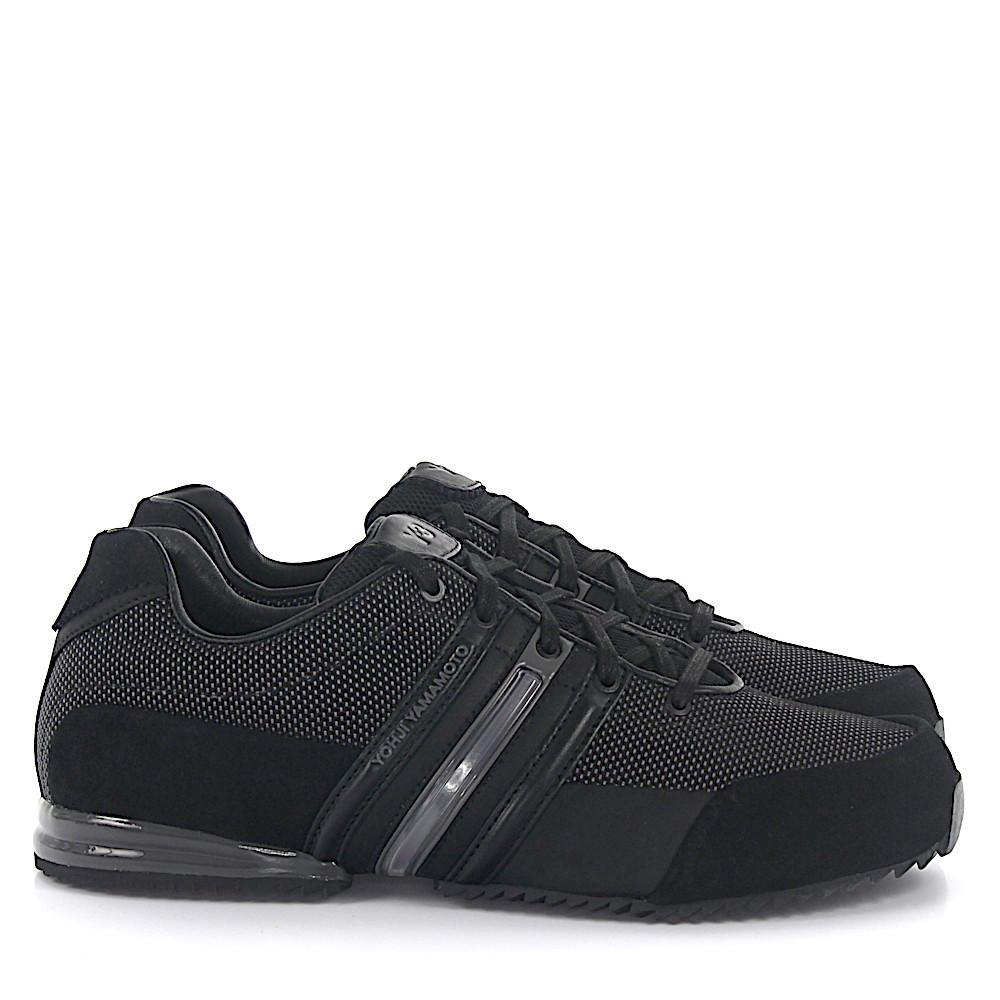 buy online a1382 1b7ab adidas. Herren Sneaker Sprint Veloursleder schwarz Stoff grau Yohji Yamamoto