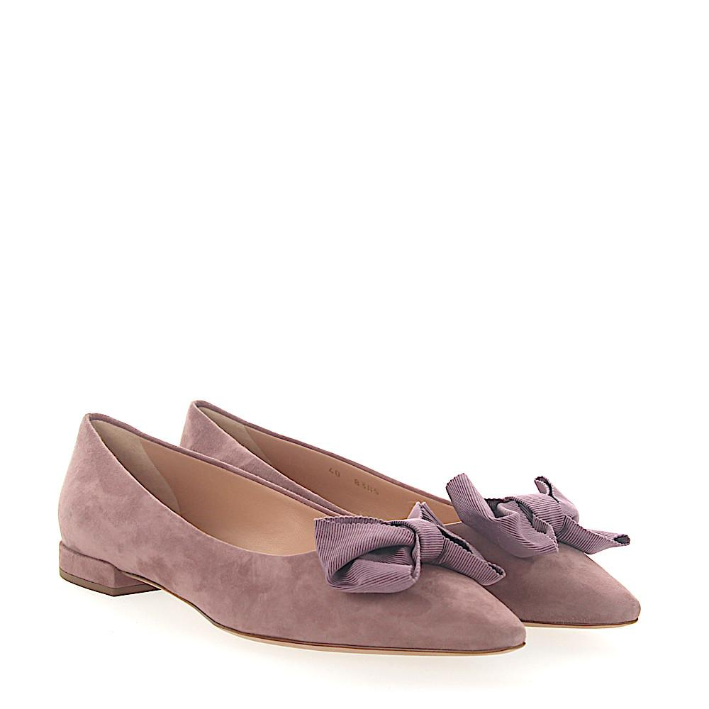 UNüTZER Ballerinas 8305 suede Ribbon rose