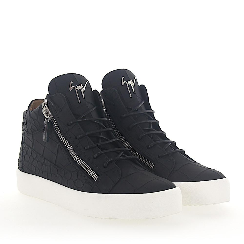 Sneaker high KRISS calfskin Embossing black Giuseppe Zanotti rcwcassY2T