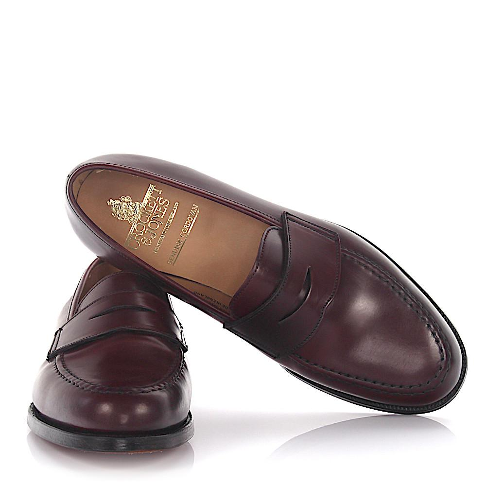 Crockett & Jones Penny Loafers BOSTON cordovan leather Goodyear Welted R0kwfre