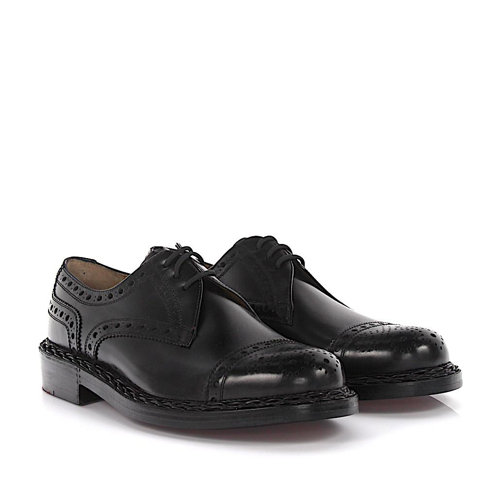 Brogue RIO leather black perforated Heinrich Dinkelacker Clearance Manchester Great Sale S0MajakdA