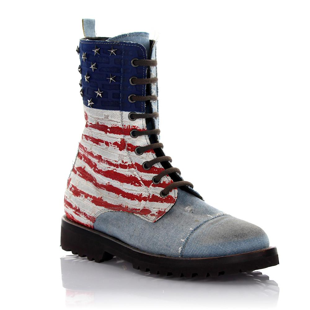 Philipp Plein Boots I Love America denim USA embossement dB7A2mIM