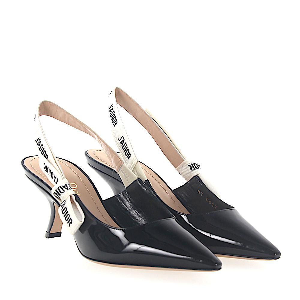d126b50ba9c Lyst - Dior Slingpumps J a Patent Leather Black in Black