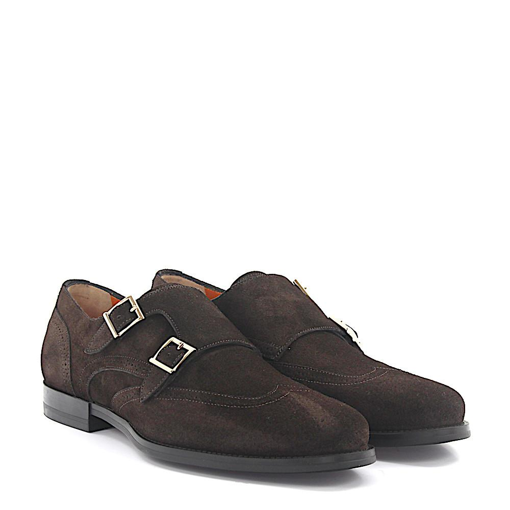 Cheap Sale Low Cost Buy Cheap Supply Double-Monk Strap 15811 Budapetser suede brown Santoni Discount Shopping Online Cheap Hot Sale Free Shipping Pictures FFQOdrirSn