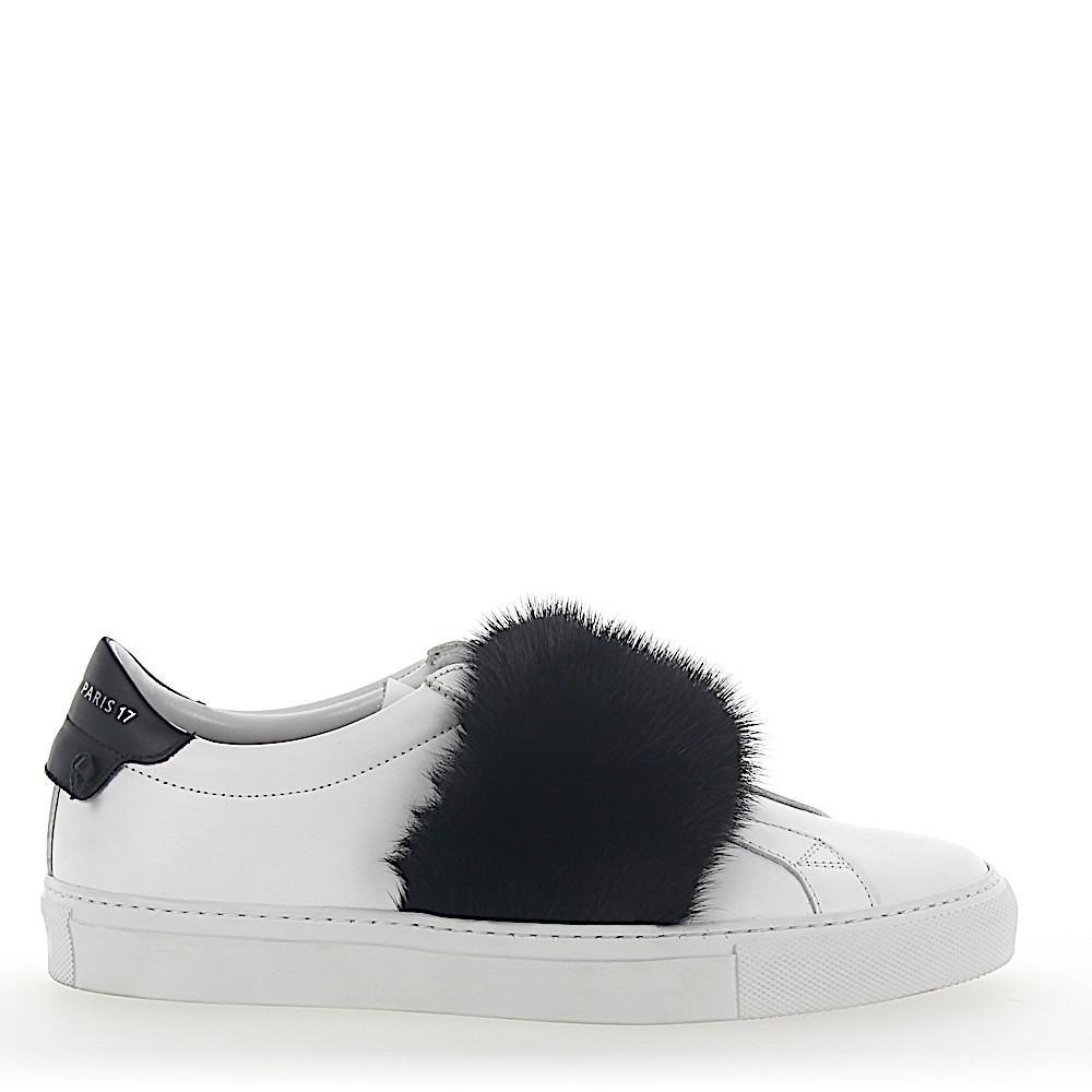 Slip-On Sneakers leather white mink black Givenchy n4CKKA7TVg