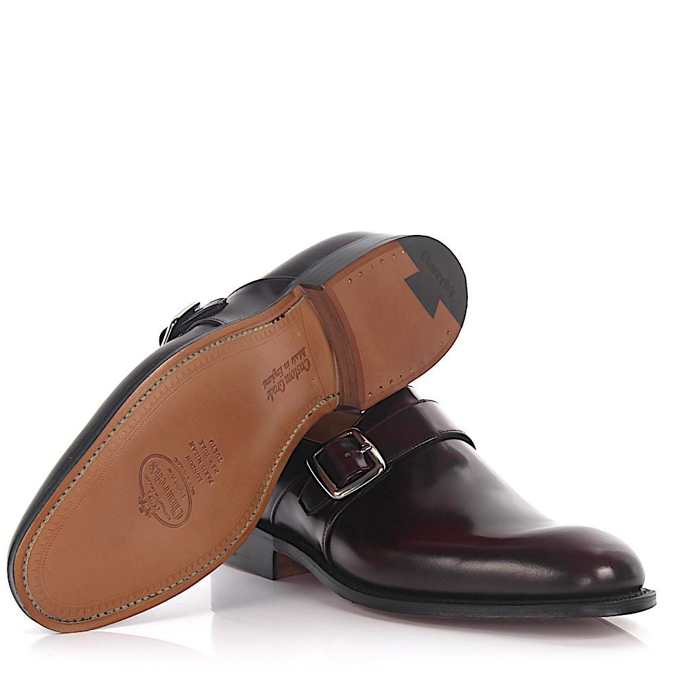 Double-Monk-Strap 15006 leather brown hand sewn Santoni fWbuI
