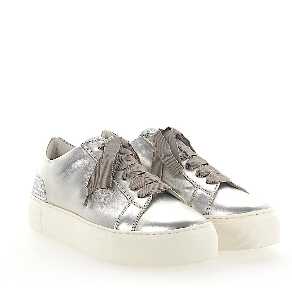 Sneakers D925012 Plateau leather beige pearls Attilio Giusti Leombruni Inexpensive Cheap Online Free Shipping Countdown Package Exclusive Cheap Online Cheap Price Low Price 6uombA