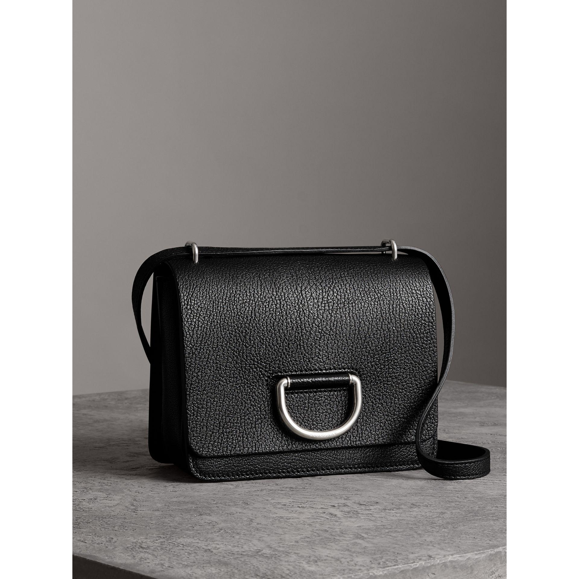The Small Leather D-ring Bag - Black Burberry zSuJ30