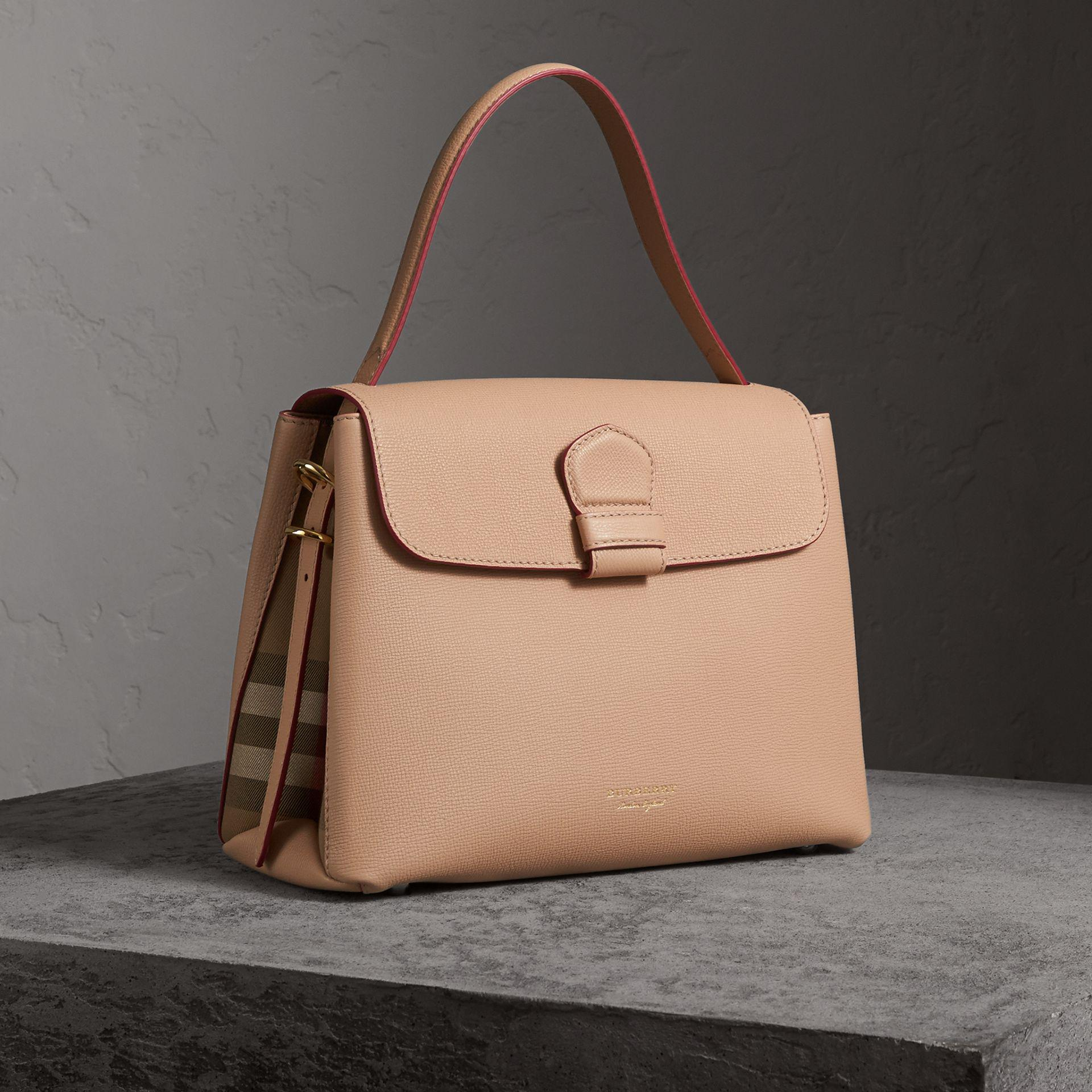 64b887ec1 Burberry Medium Grainy Leather And House Check Tote Bag - Women | - Lyst