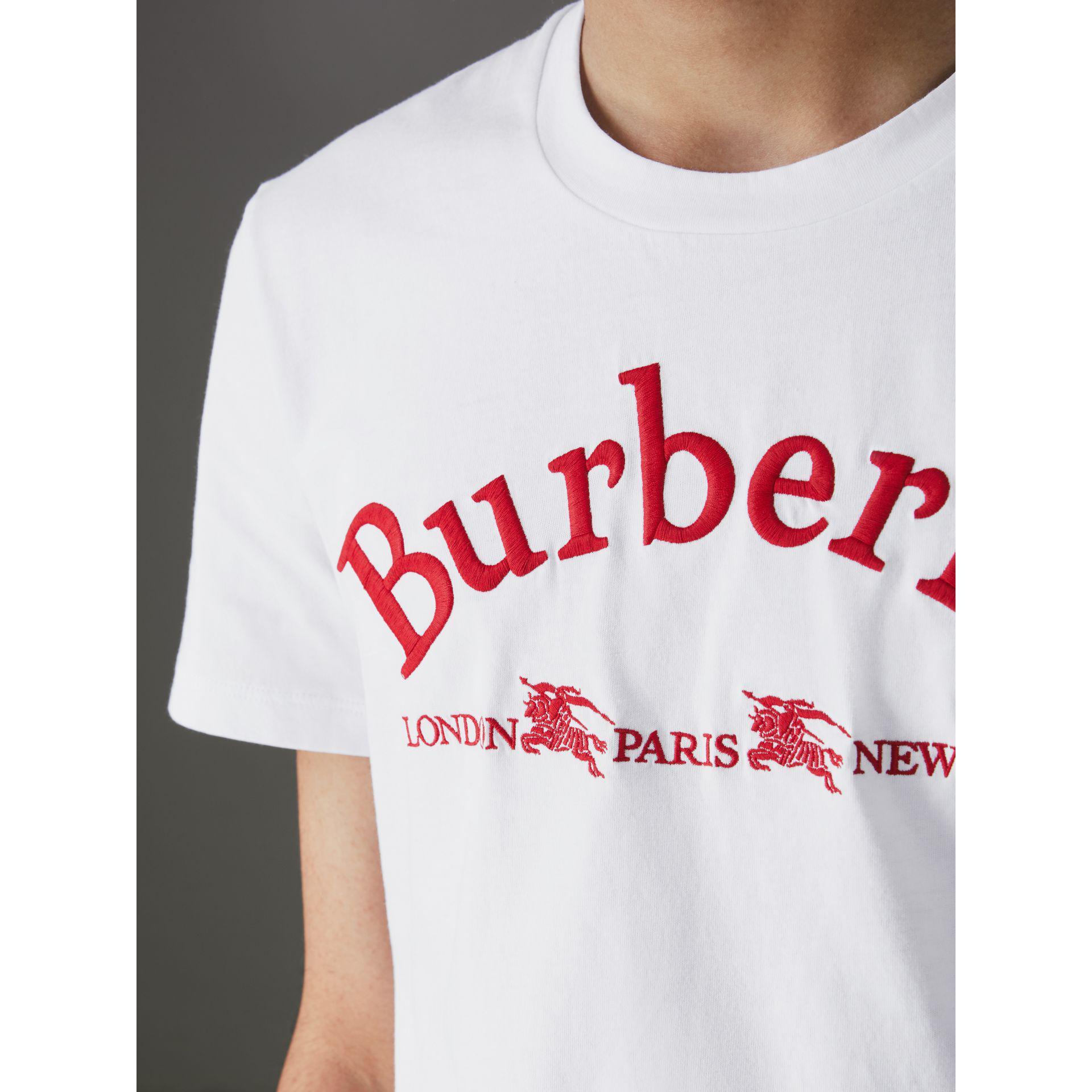 6fce1c15 Burberry Archive Logo Cotton T-shirt in White for Men - Lyst