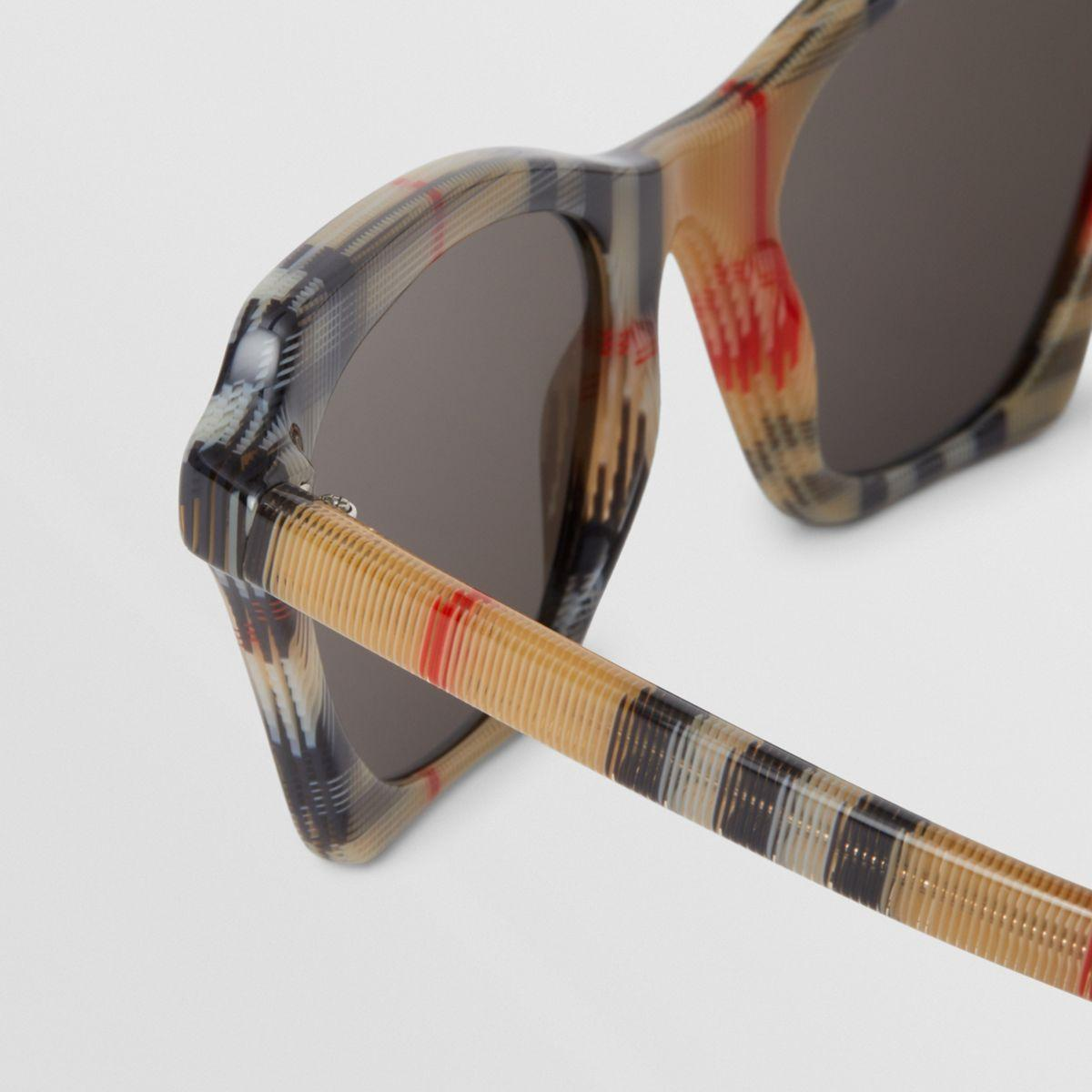 57d380b91bb Burberry - Multicolor Vintage Check Butterfly Frame Sunglasses - Lyst. View  fullscreen