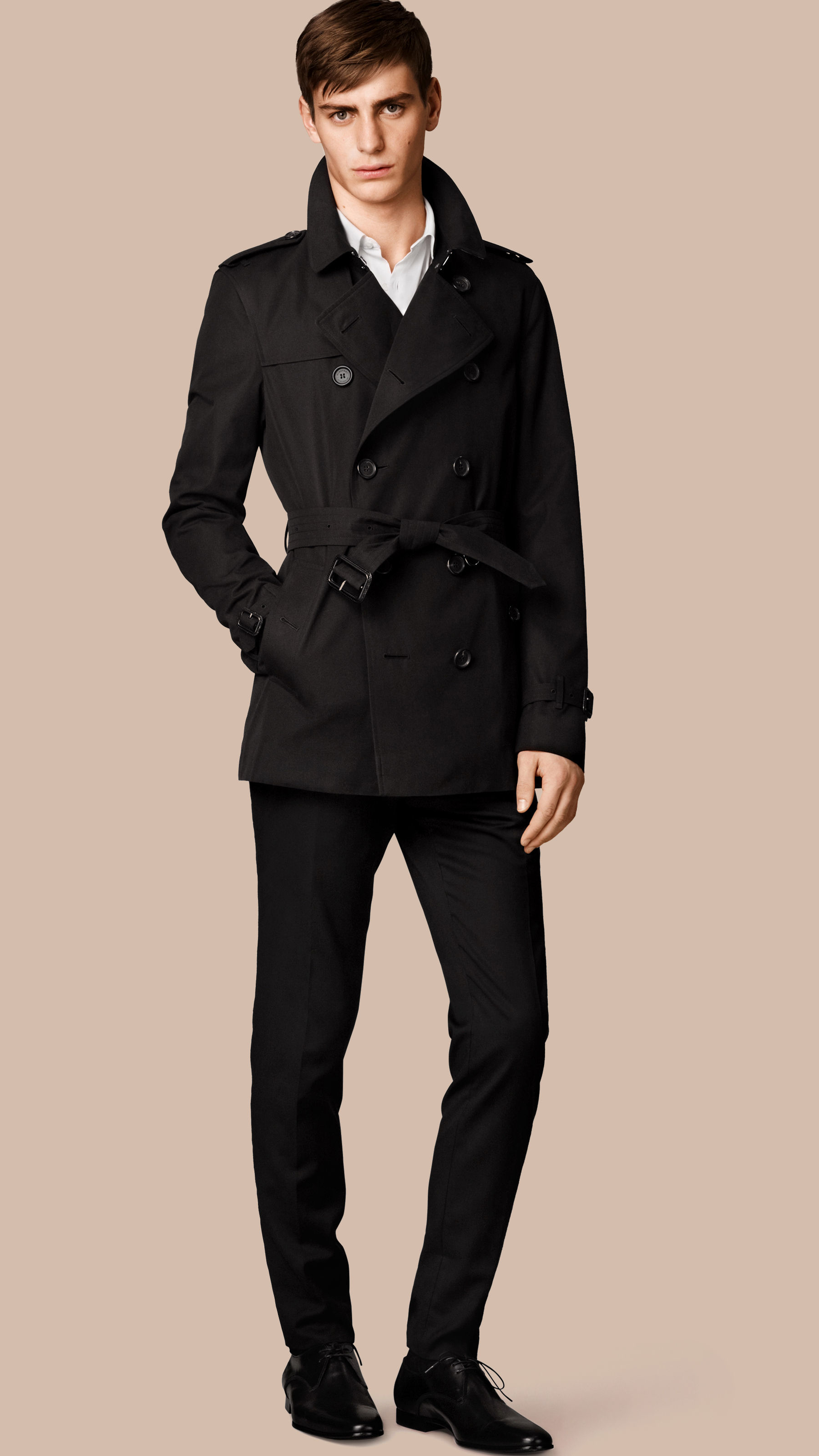 Burberry The Kensington – Short Heritage Trench Coat Black ...