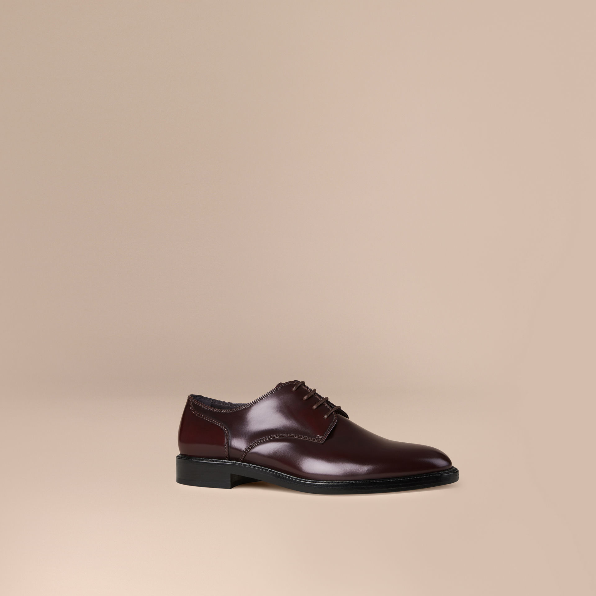 Lyst Burberry Leather Derby Shoes Oxblood For Men
