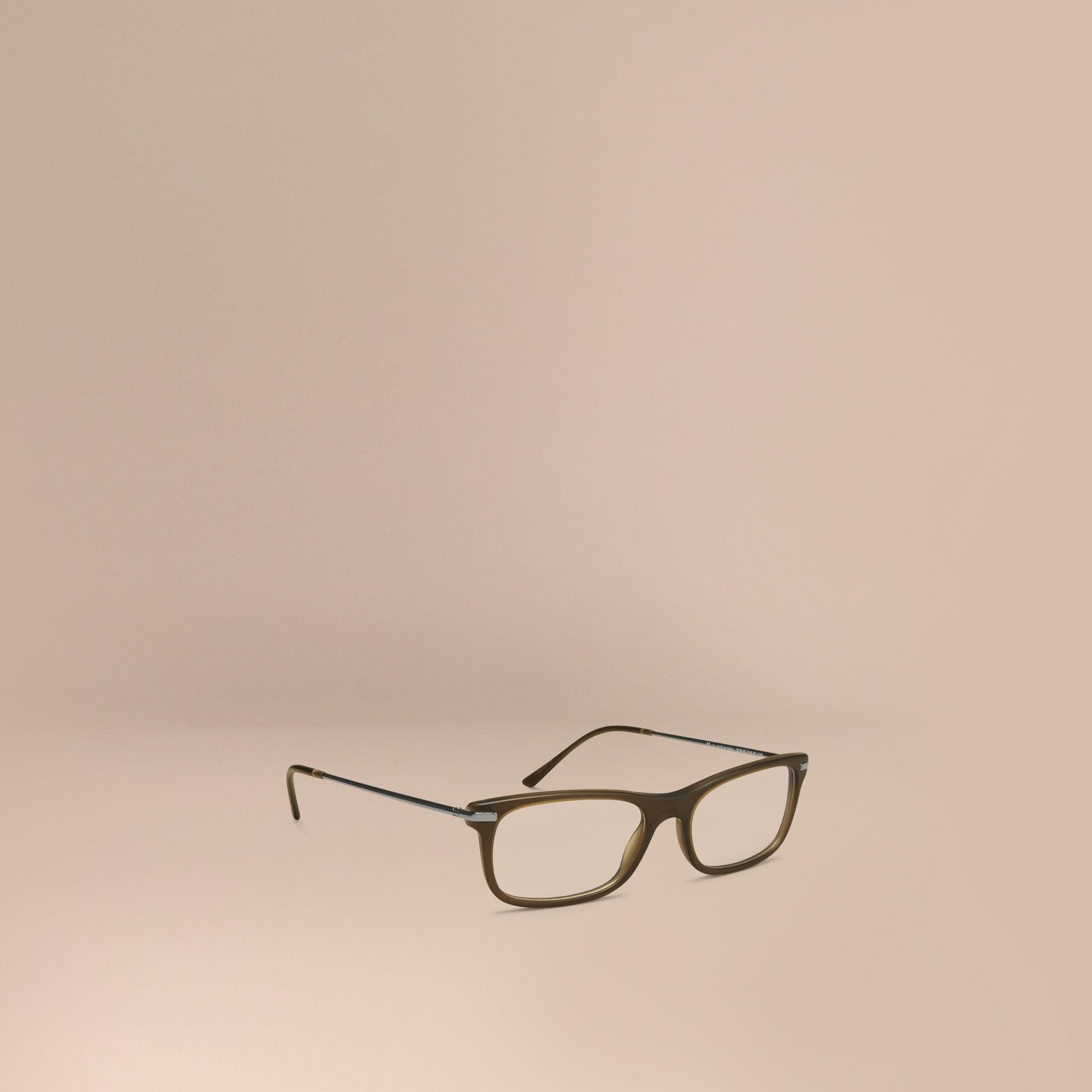 Burberry Square Optical Frames Olive In Green For Men Lyst