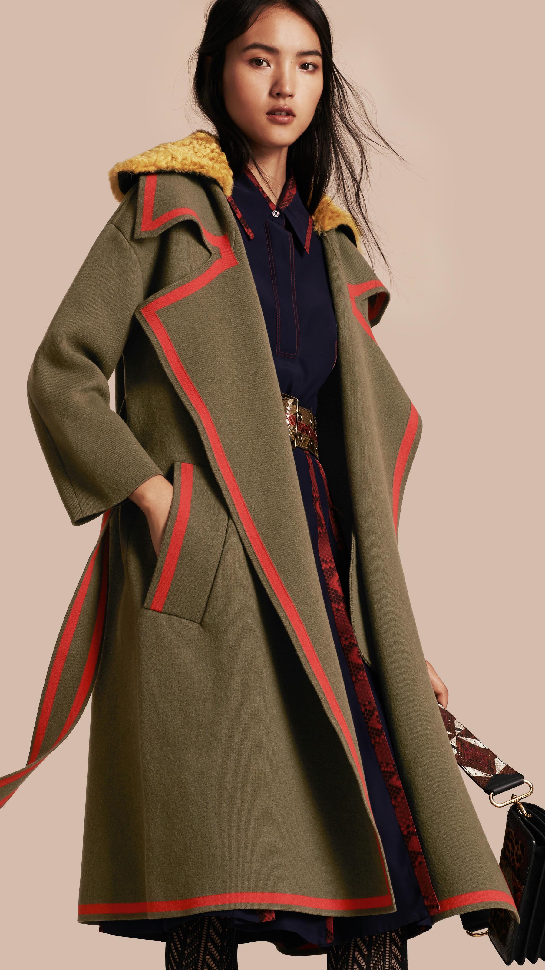 Burberry Wool Cashmere Knit Cardigan Coat 43