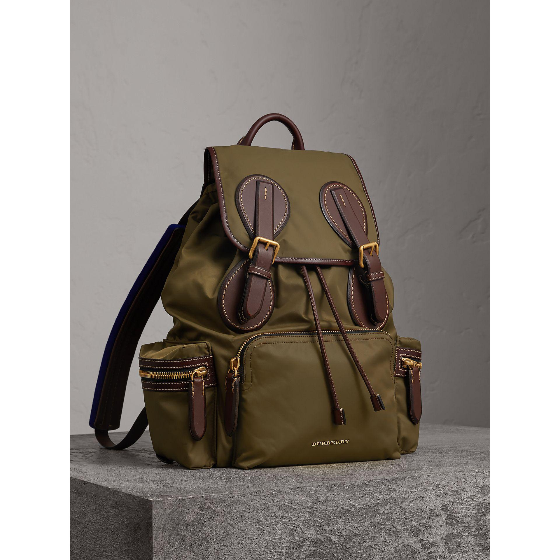 caef8b5b170c Burberry The Large Rucksack In Technical Nylon And Topstitched ...