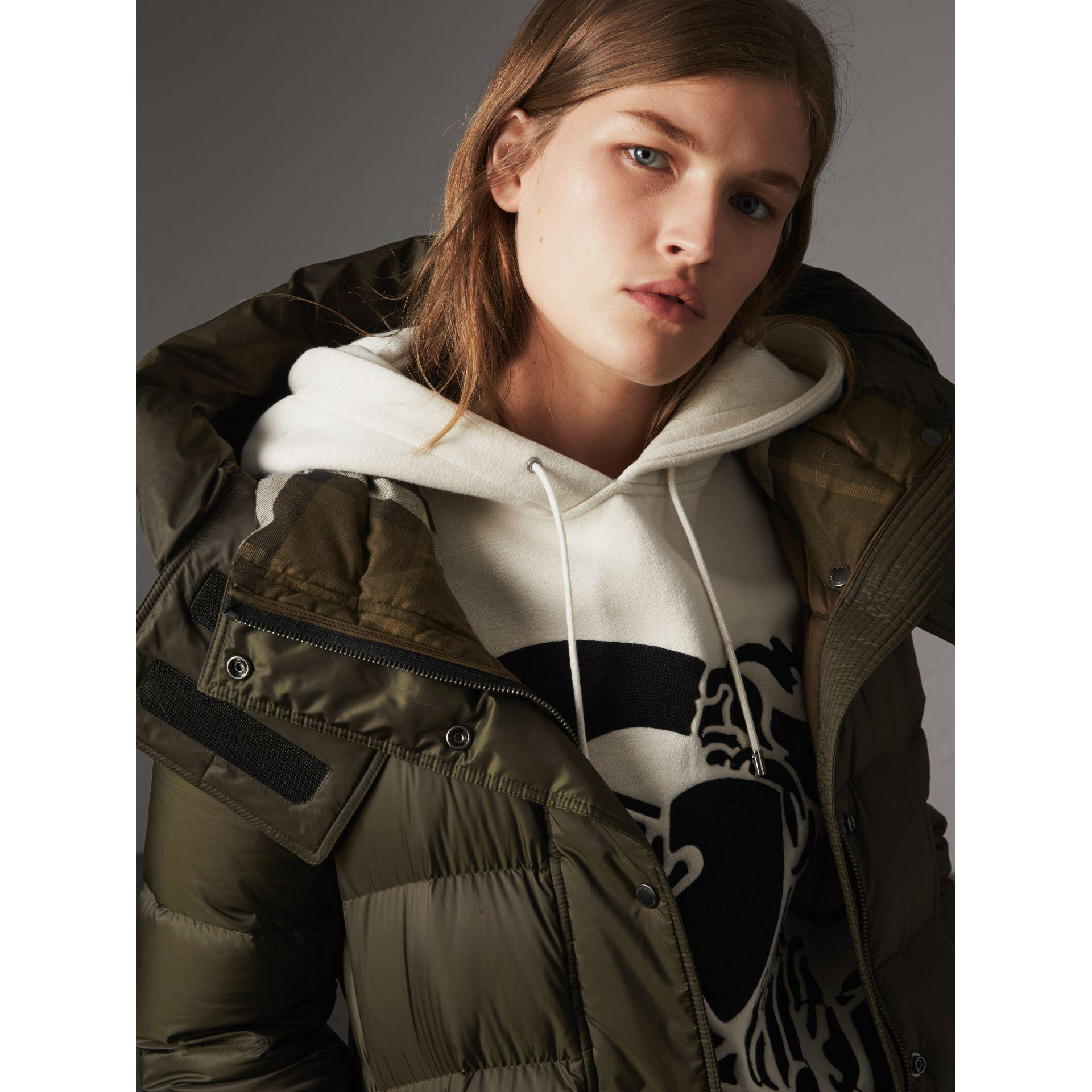 af39e83729031 Burberry Detachable Hooded Down-filled Puffer Coat in Green - Lyst