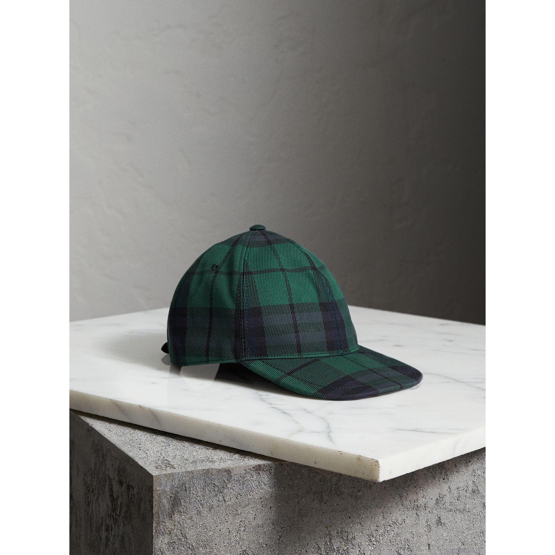 Lyst - Burberry Tartan Baseball Cap in Green for Men 5a8c197c959e