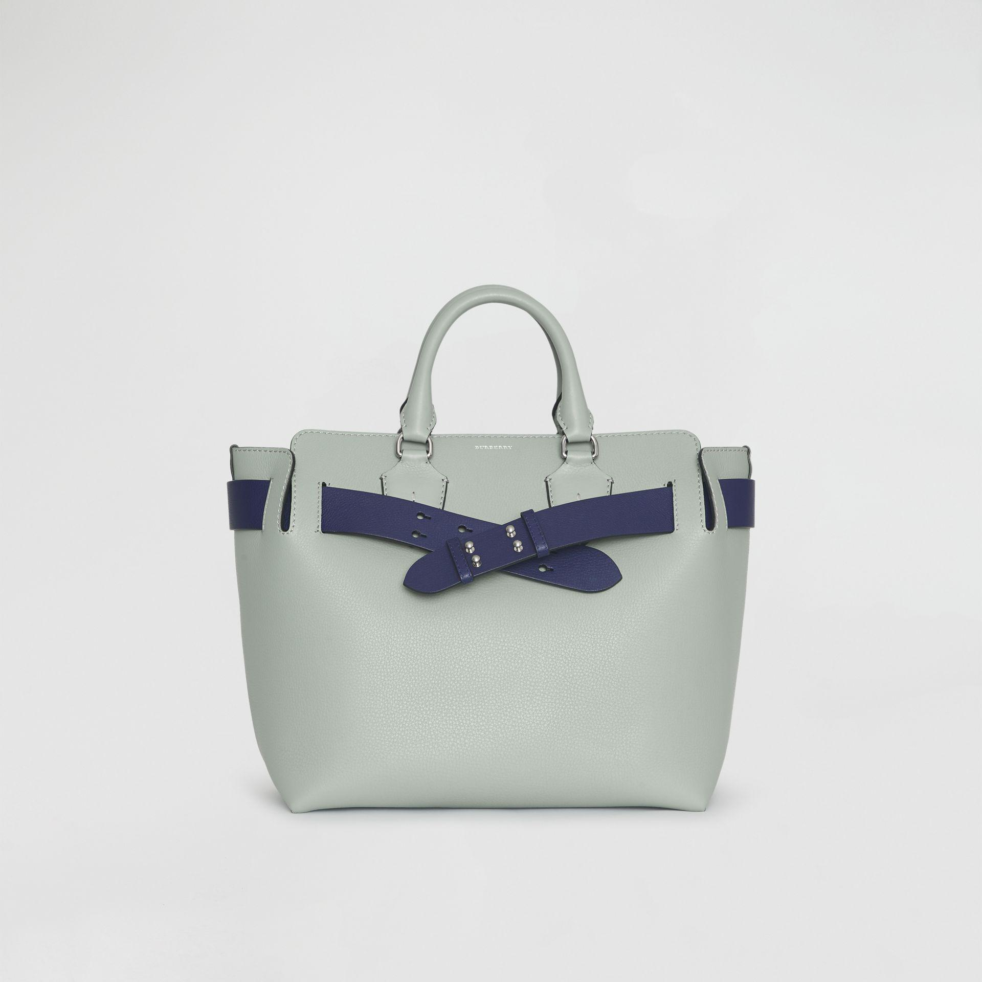 91bf79691832 Burberry The Medium Leather Belt Bag in Blue - Lyst
