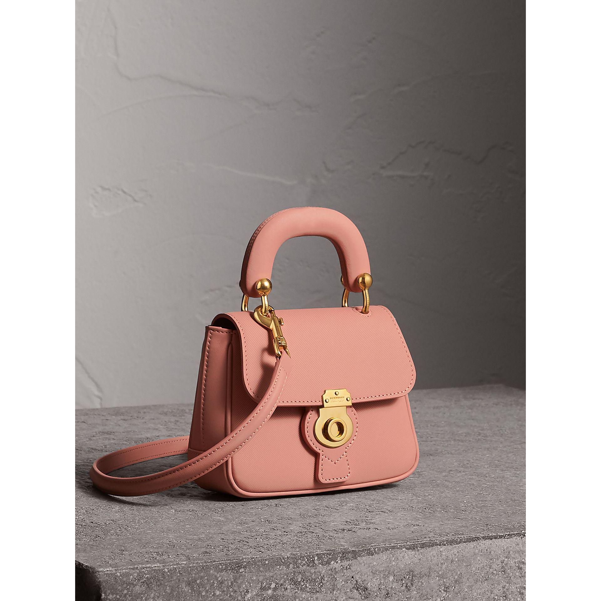 Burberry The Mini Dk88 Top Handle Bag In Ash Rose  e74e4019ac5a1