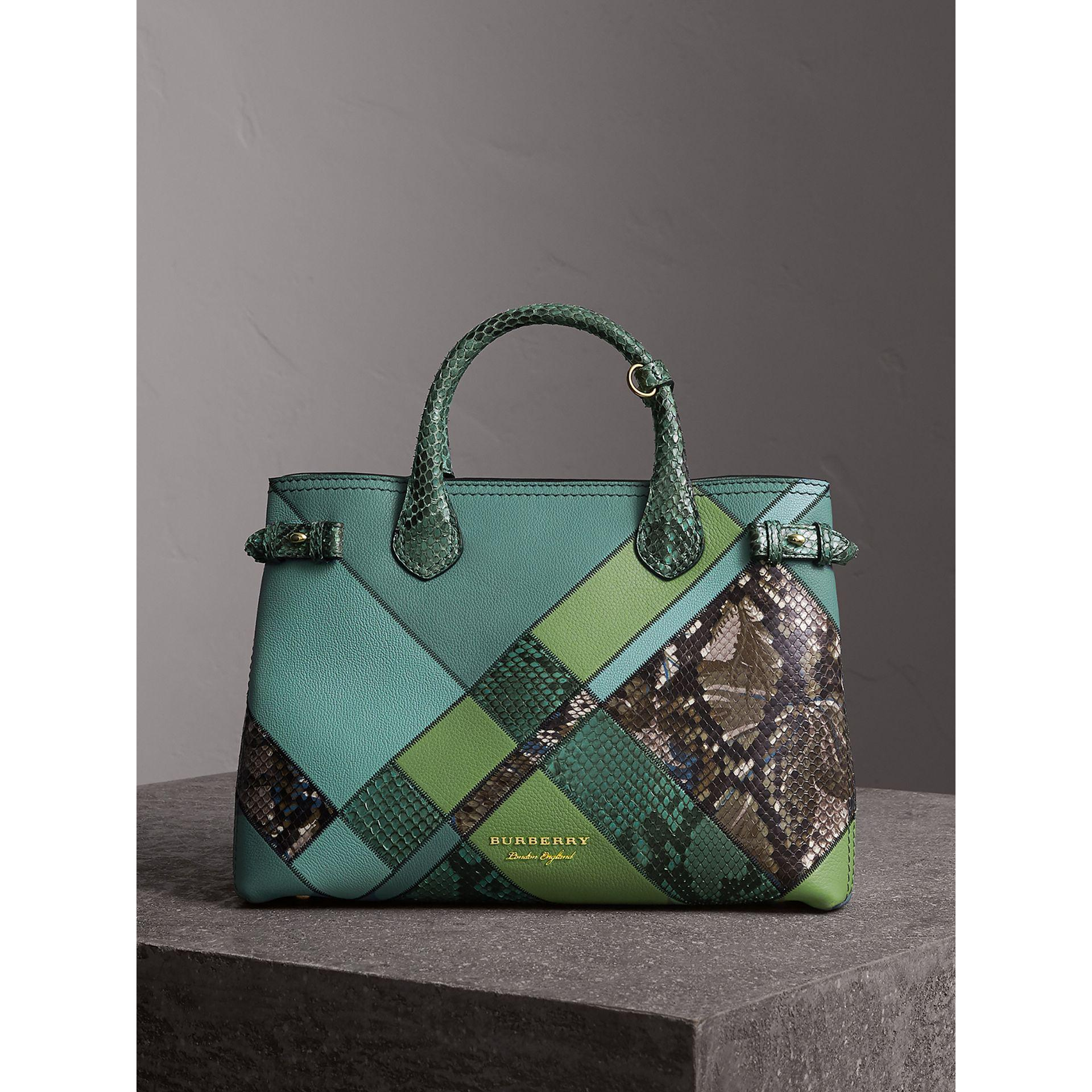 c2e3c099e450 Lyst - Burberry The Medium Banner In Patchwork Leather And Python ...