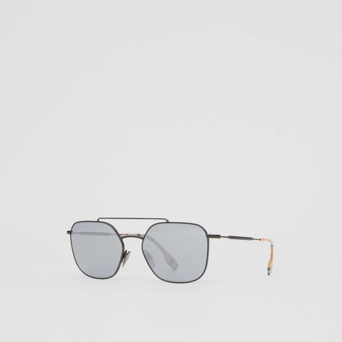 8354f20102e Burberry - Multicolor Top Bar Detail Square Pilot Sunglasses for Men - Lyst.  View fullscreen