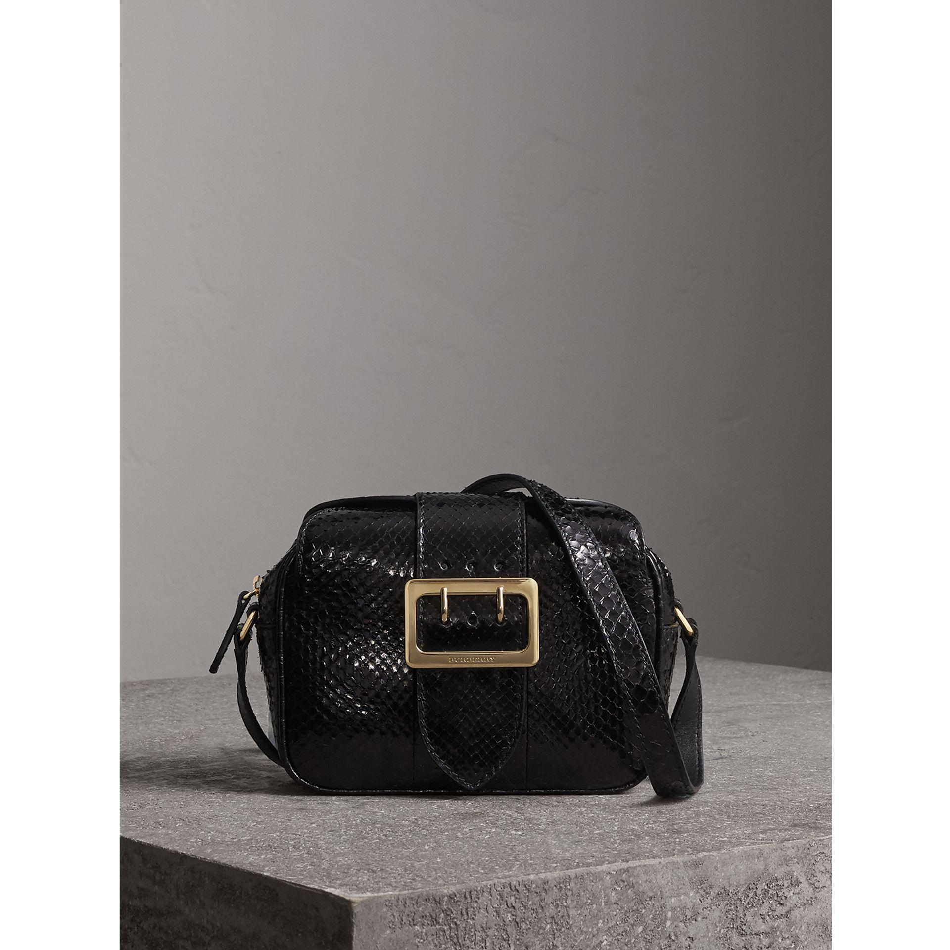 3a89d7bb5fc9 Burberry The Small Buckle Crossbody Bag In Python in Black - Lyst