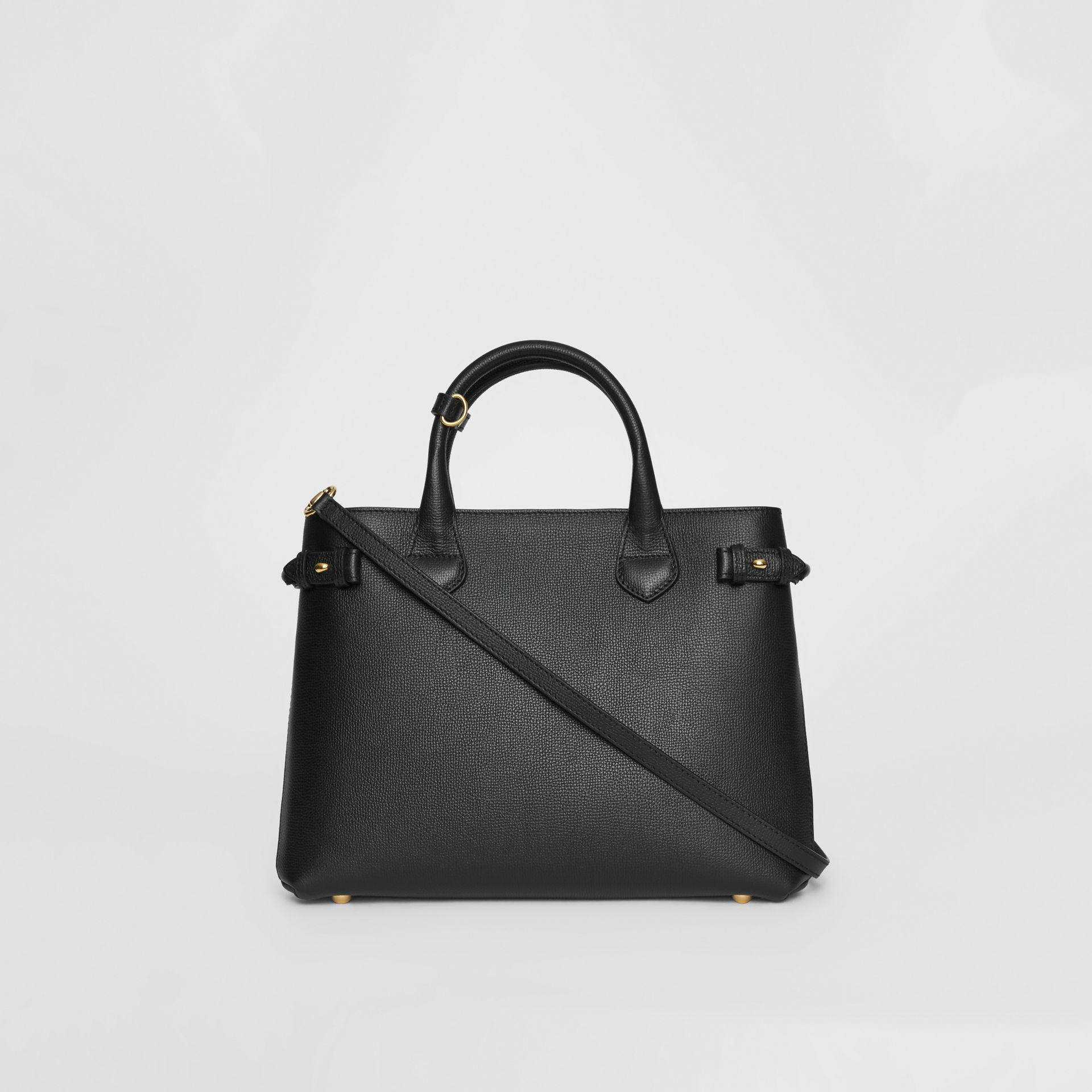 Burberry The Medium Banner In Leather And House Check Black - Lyst cd418ce69a