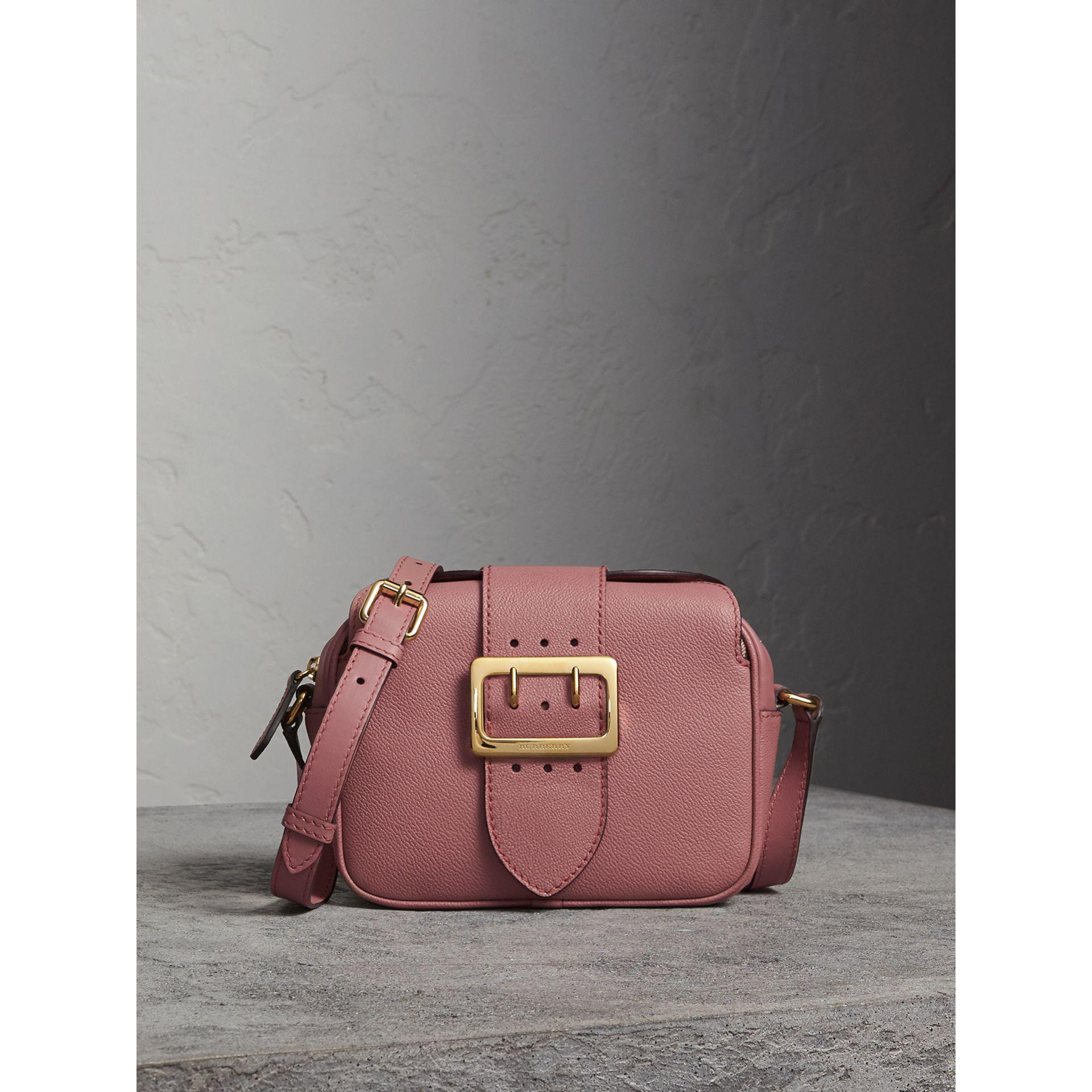 Two-tone Leather Crossbody Bag - Pink & Purple Burberry GEjSsQQC18
