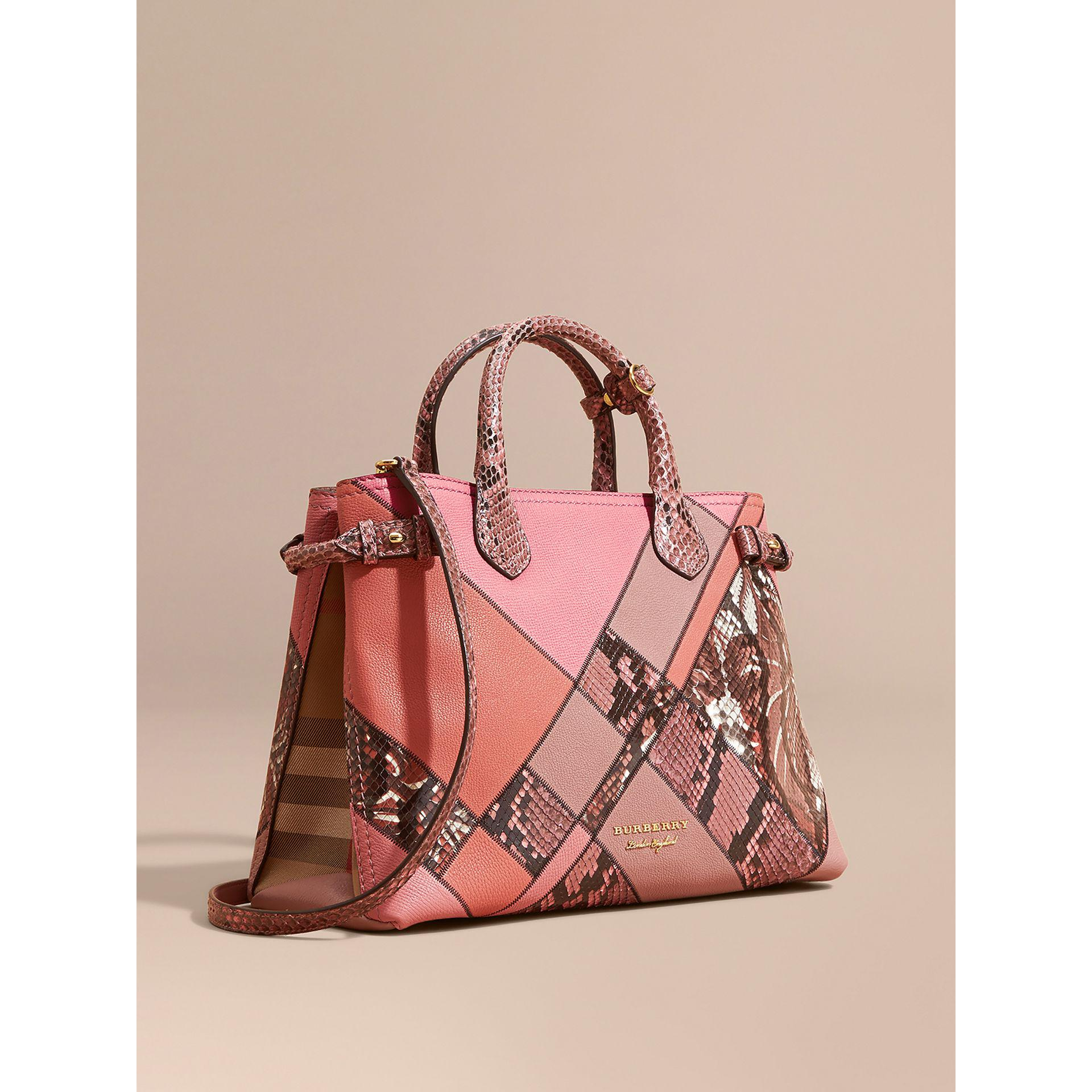 ccf1f959af Burberry The Medium Banner In Patchwork Leather And Python - Lyst