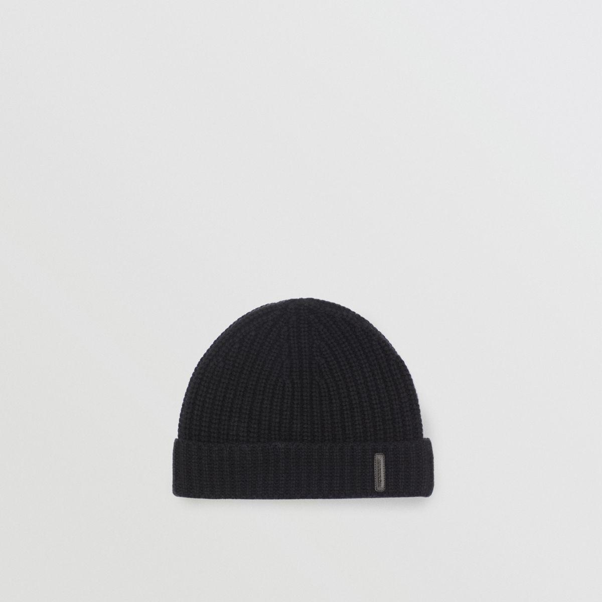350ef749239b6 Burberry - Black Rib Knit Cashmere Beanie - Lyst. View fullscreen
