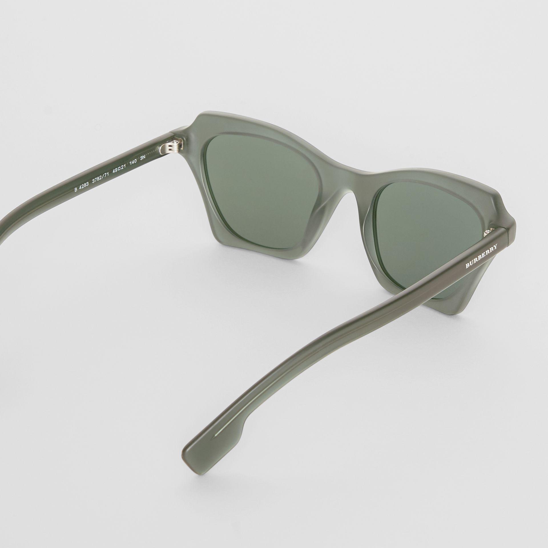 9d1ed5884a0d Burberry - Green Butterfly Frame Sunglasses - Lyst. View fullscreen