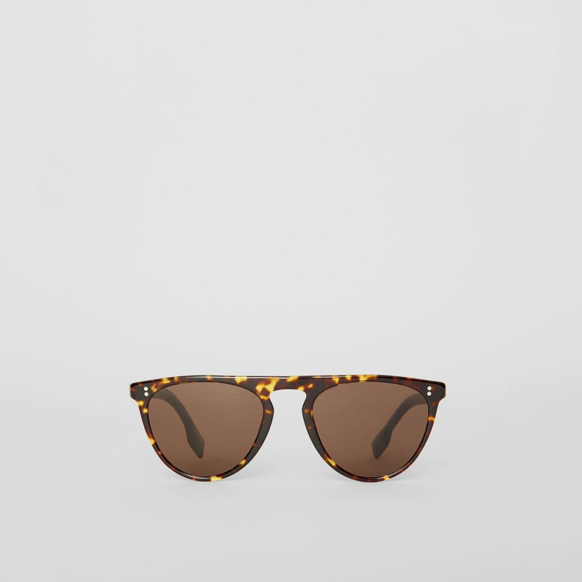 b84064cddc5 Burberry Keyhole D-shaped Sunglasses in Brown for Men - Lyst