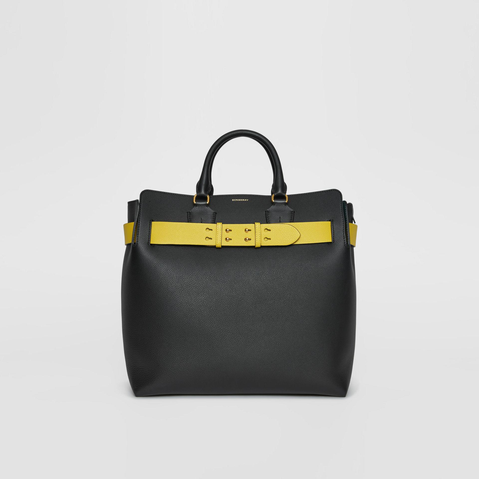 15da88b7a408 Burberry The Large Leather Belt Bag in Black for Men - Lyst